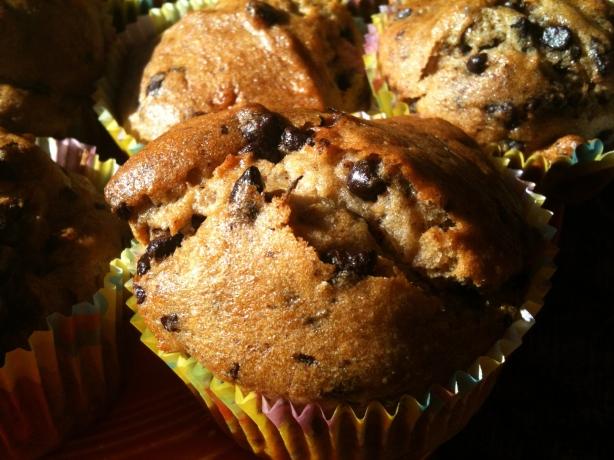Gluten Free, Fair Trade Chocolate Chip Banana Muffins